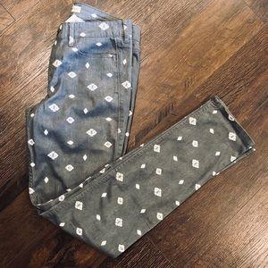 Abercrombie Stretchy Skinny Gray Aztec Jeans
